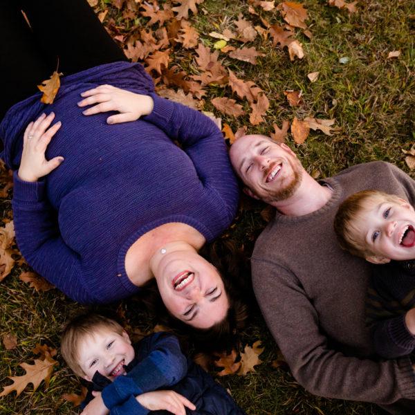 Fredericton Family Portraits: Melanie, Adam, Noah + Bennett