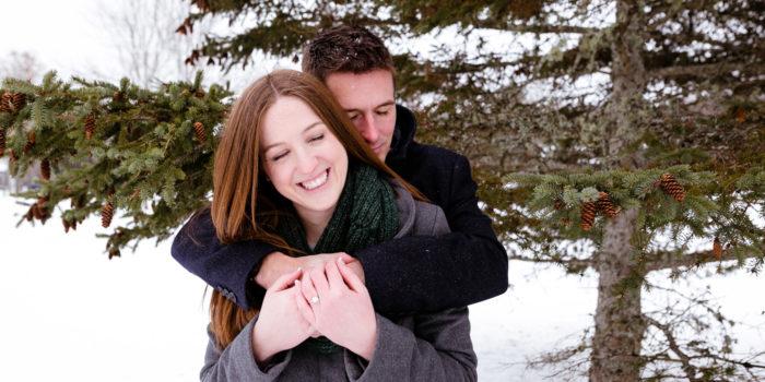 Snowy Engagement Portraits: Sarah + Kyle